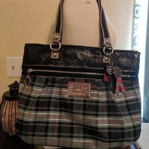 Coach Poppy tartan print handbag